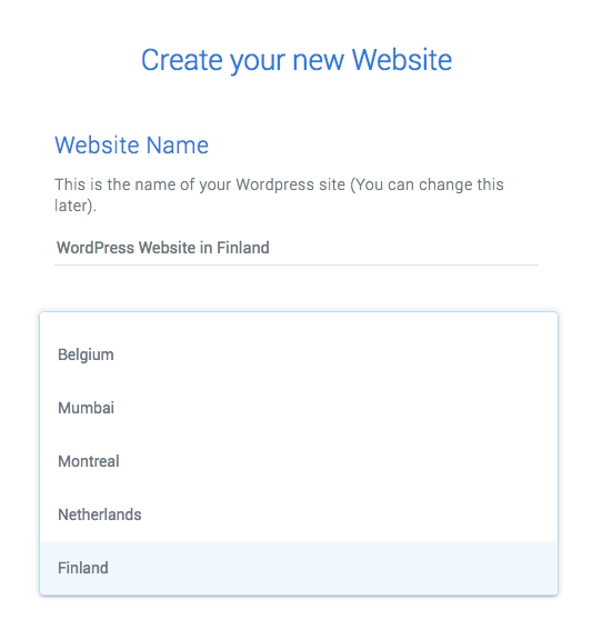 Set up a WordPress site in Finland