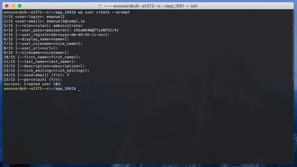 wp user create prompt