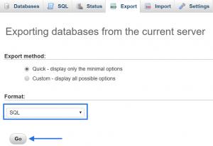 Exportera databas