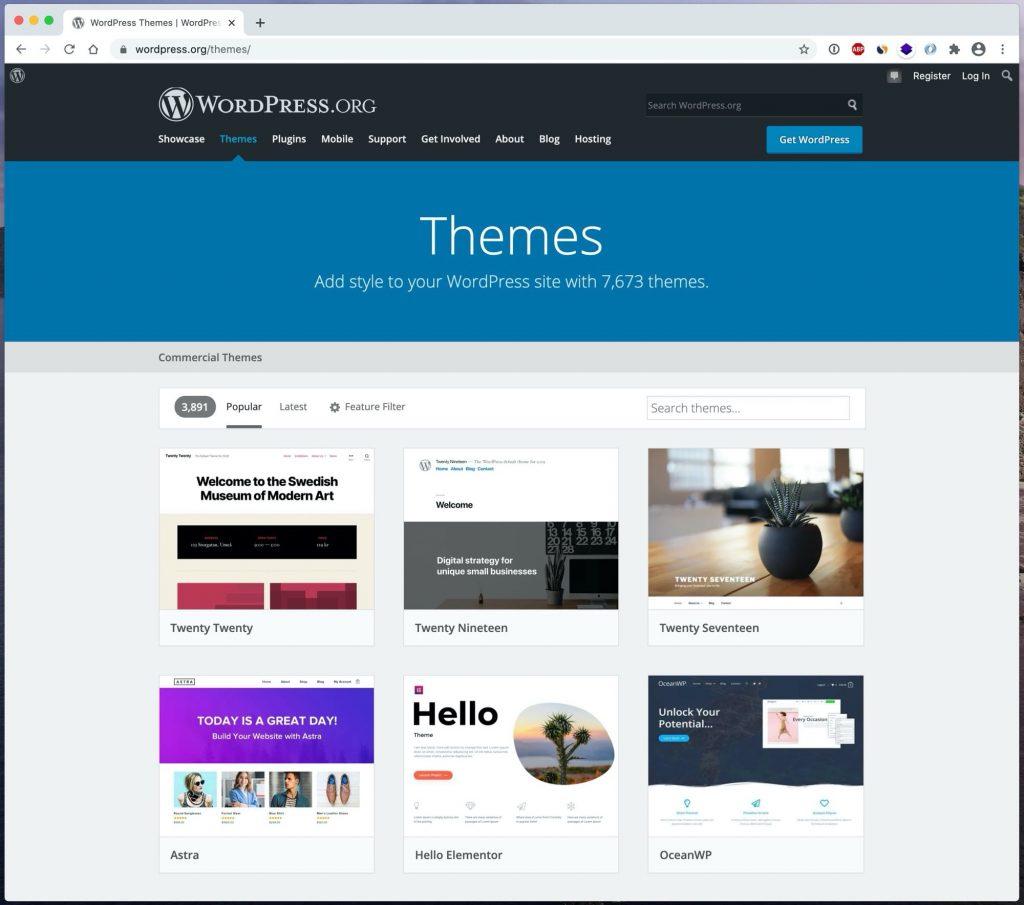 WordPress teman